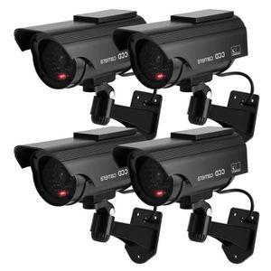 CAMÉRA FACTICE Lot de 4 Caméra de surveillance préventive Solaire
