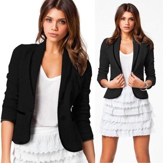 Longues S Paontry8699 Taille Tops Blazer Les Manteau Veste 6xl D'affaires Costume Slim Femmes Manches Outwear w7x6PFYq