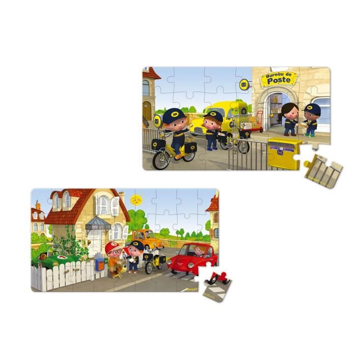 JANOD Lot de 2 Puzzles Lovely ''Le vélo de Matteo''
