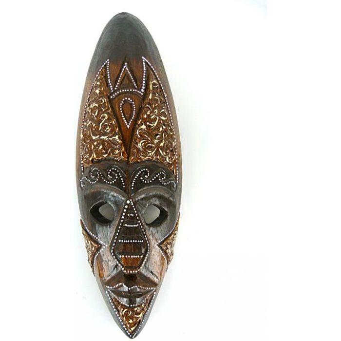 MASQUE DÉCORATIF Masque déco africaine en bois 30cm - décoration et