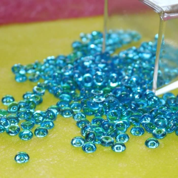 Perles De Pluie Confettis De Table Bleu Turquoise Deco Mariage Fetes