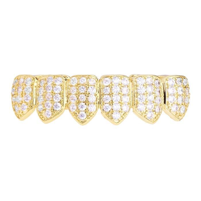 Grillz - Gold - One size fits all - CUBIC ZIRKONIA Bottom
