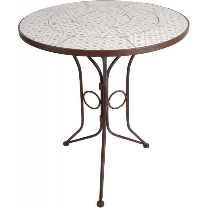Petite table ronde en céramique et métal Botanicae • Table ...