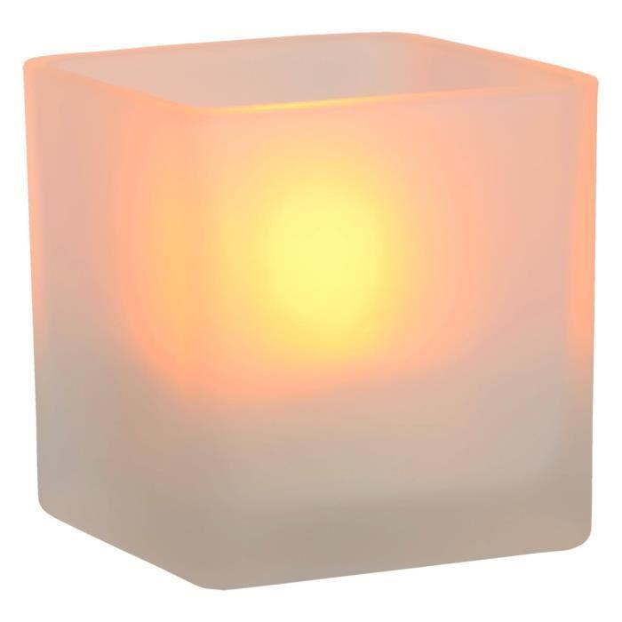 Bougie Poser Lampea Classique À Lampe Kindea Carrée Led En Verre qUpVSzM