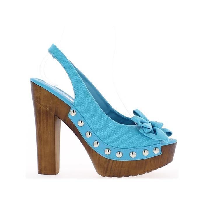 Sandales bleues à talon de 14cm …