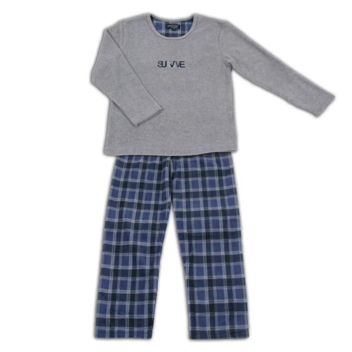 e0ff7b6eb09f6 Pyjama polaire Enfant Bleu Bleu - Achat   Vente pyjama - Cdiscount