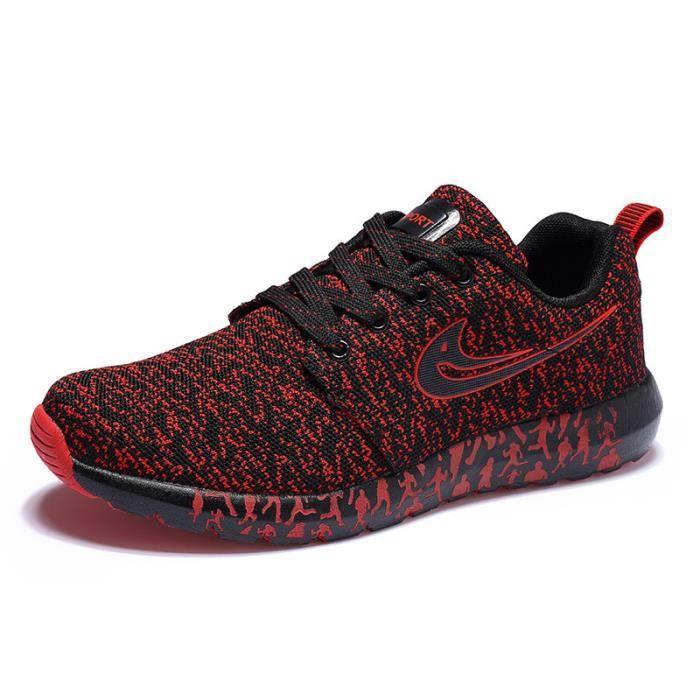 Sneaker Marque Grande De 47 ete 2017 Respirant Léger sport Hommes rouge Baskets de Nouvelle Luxe Poids Taille De Chaussures arrivee q88WvT