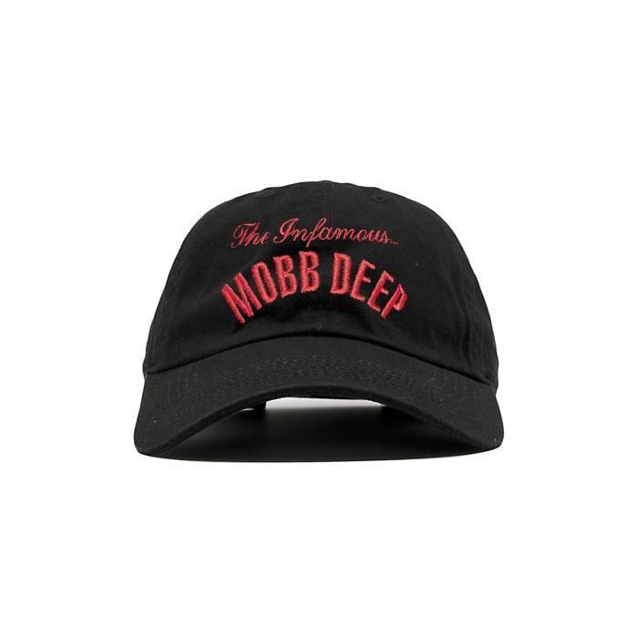 f5bbcd5ca028c MOBB DEEP - CASQUETTE DAD CAP BLACK THE INFAMOUS MOBB DEEP Noir Noir ...