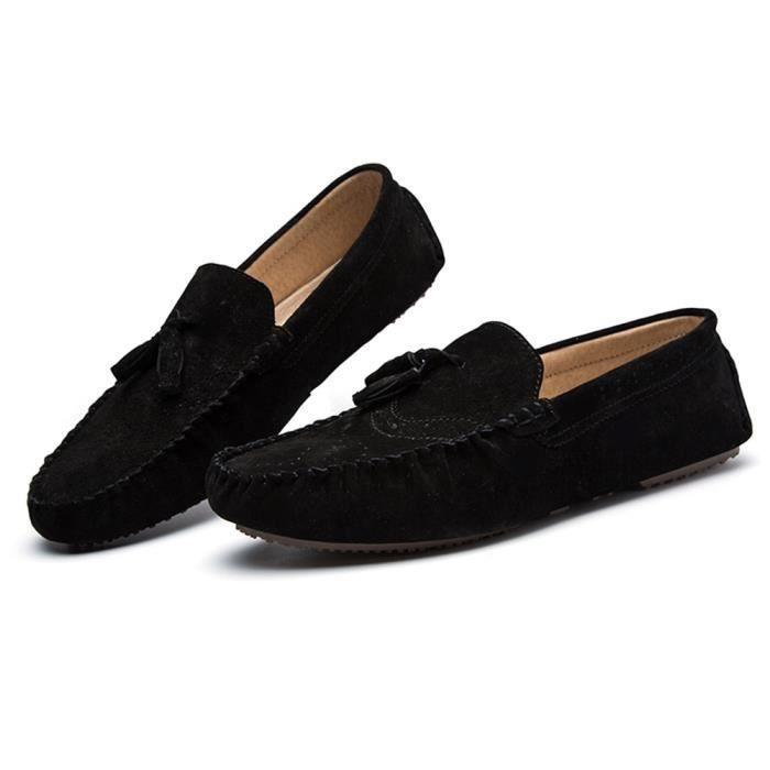 Moccasins Hommes Marque De Luxe Haut qualité Moccasin Hommes Beau Mode des chaussures de conduite Antidérapant Plus De Couleur