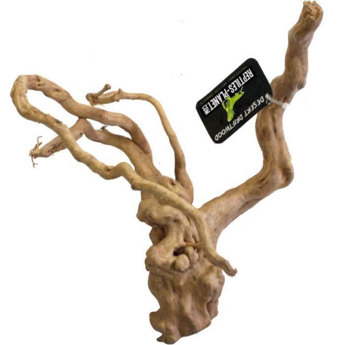 DÉCO ARTIFICIELLE Racine avec branches sablée pour terrarium reptile
