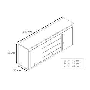 enfilade wenge achat vente enfilade wenge pas cher cdiscount. Black Bedroom Furniture Sets. Home Design Ideas