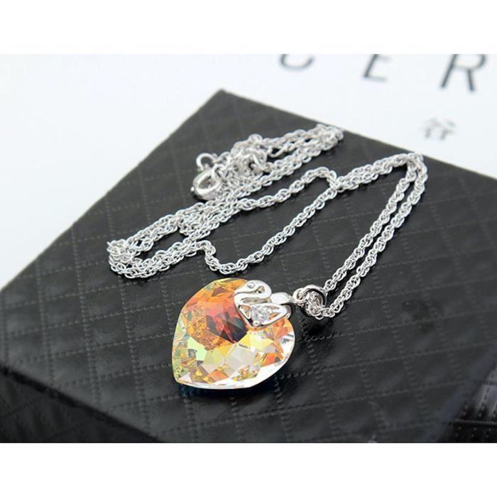 Les cristaux Swarovski femmes Coeur de diamant - amour - valentine collier pendentif. Mode Wear Daily - partie ATXQ3