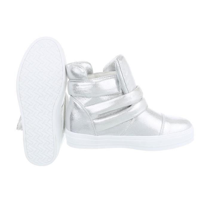 Chaussures femme bottine Bottes argent 41