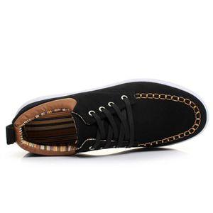 Chaussure Mocassin Homme En Daim Cuir Patchwork Occasionnels Étudiant Populaire BJYG-XZ113Jaune41 bsKXYTI