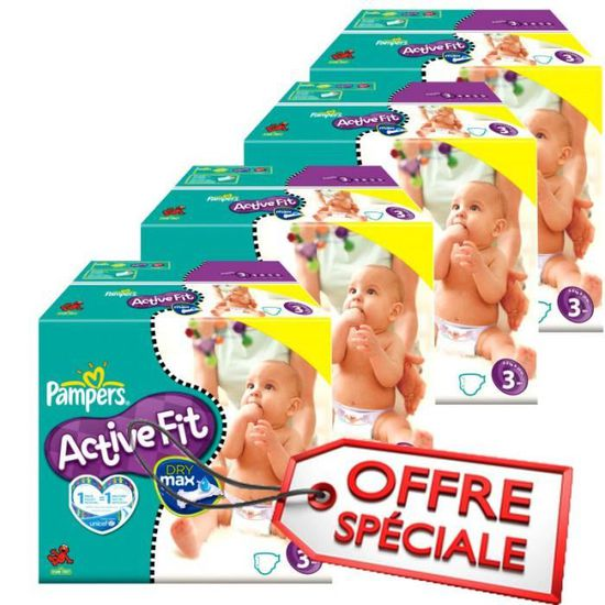 Maxi Giga Pack Jumeaux 615 Couches Pampers de la gamme Active Fit taille 3  - Achat   Vente couche 8945017037668 - Soldes  dès le 9 janvier ! Cdiscount 55bf362641a