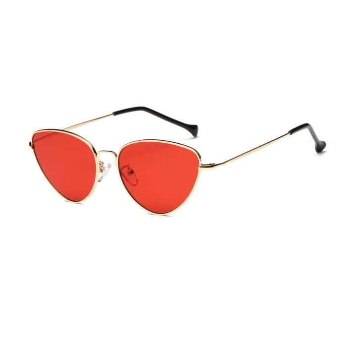 LJL70428136RD@Femmes Hommes Été Vintage Retro Eye Eye Lunettes Unisex Mode Aviator Mirror Lens Travel Lunettes de soleil