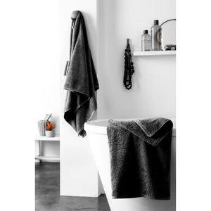 FINLANDEK Set de 2 Draps de douche KYLPY 70x140 cm noir