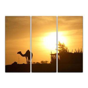 TABLEAU - TOILE Impression sur toile - chameau en Egypte 120 x 80