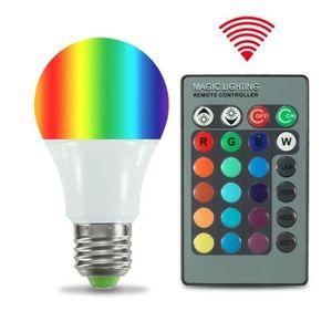 AMPOULE - LED 4X E27 RGB Ampoules 5W Lampe Changement de Couleur