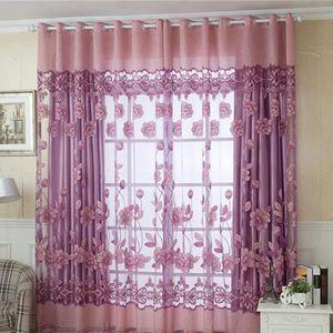 VOILAGE 1 morceau de voilage fenêtre de la porte de fleurs
