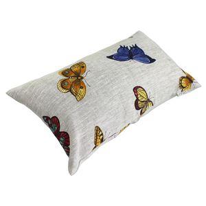 COUSSIN Housse de coussin 30x30 cm GALLICO Papillons bleus