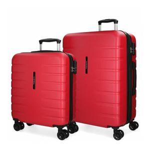 SET DE VALISES Lot de 2 valises rigides 55-69 Movom Turbo Rouge -