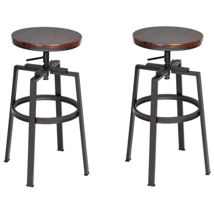 tabouret de bar industriel lot de 4 achat vente pas cher. Black Bedroom Furniture Sets. Home Design Ideas