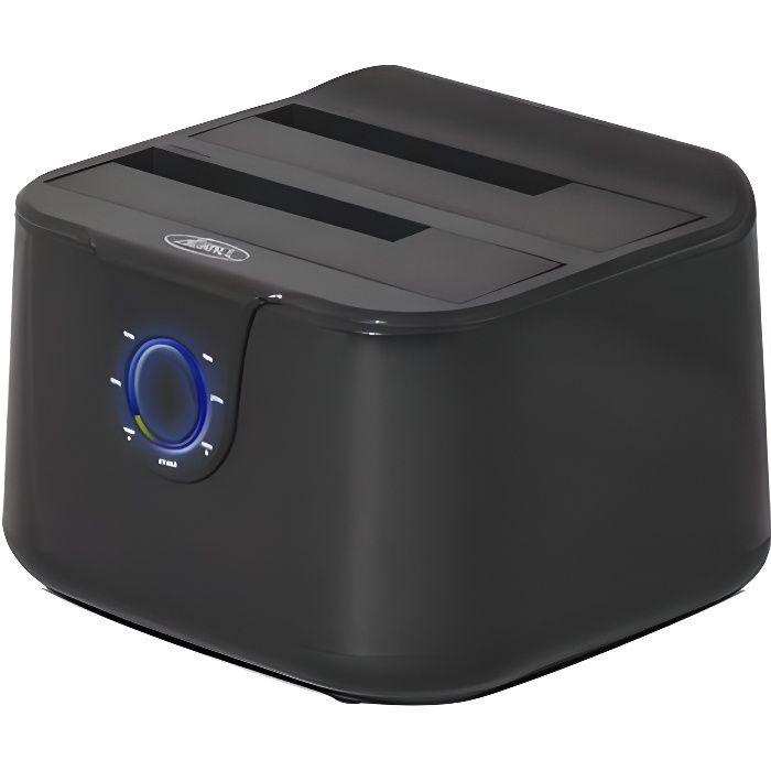 Advance Station d'accueil Dual Dock - Pour disque dur - HDD - USB 3.0 - Noir