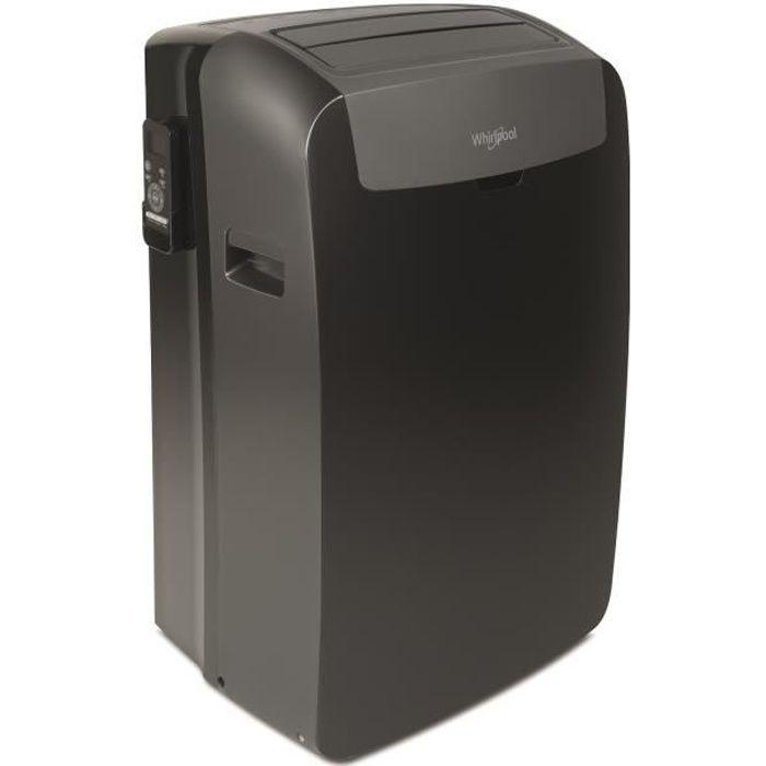 WHIRLPOOL PACB29CO 2500 watts - Climatiseur mobile 9000 Btu - Classe A - 3 vitesses de ventilation - R290 - Mode silencieux