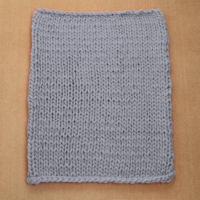 473c8571bad5 100X80cm Main Chunky Tricoté Couverture Laine Épais Knitting Tricot Gris JF    1150