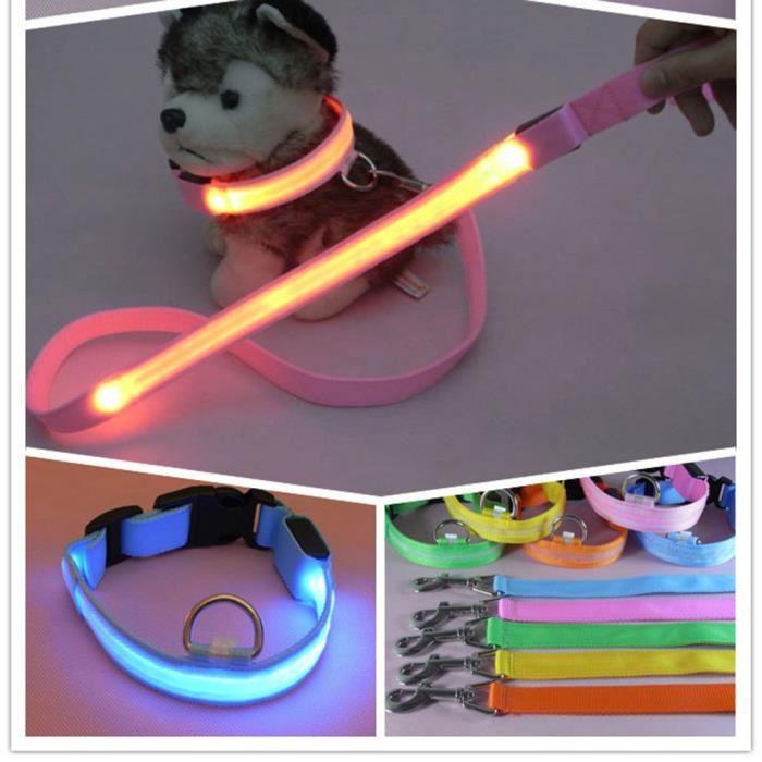 Hot Cakes Pet Led Glow Corde Tirage Lumière Chien Collier De Pour Xkl70316262rdl_109