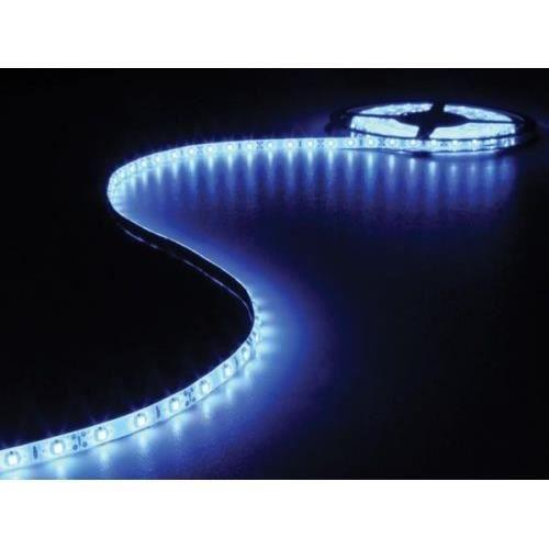 flexible ruban guirlande rouleau 300 led bleu autocollante 12v 5m