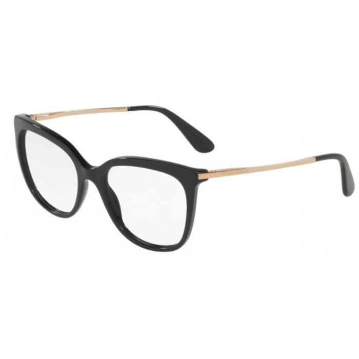1e7c54777e43c Lunettes de vue Dolce   Gabbana DG3259 501 Black 53-17 Noir - Or ...