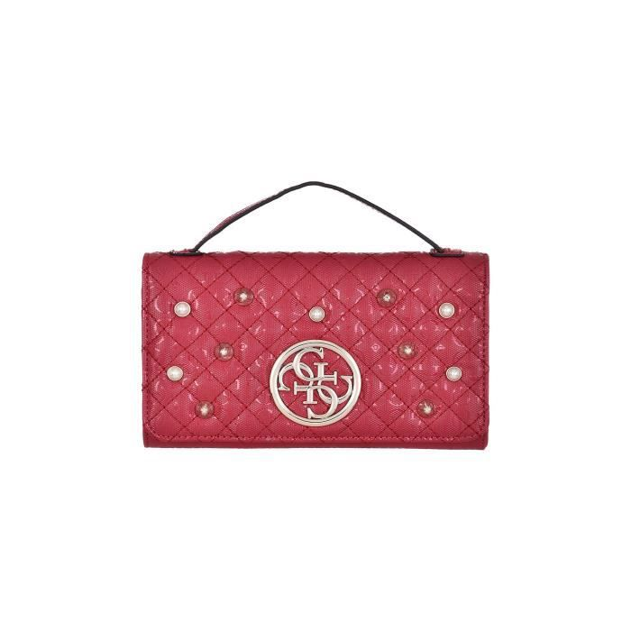 Rouge Portefeuille Guess Gioia Bandoulière Sac X7w1pv0