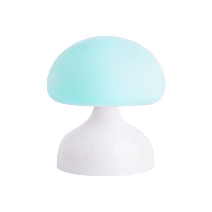 Silicone Lumière Pour Nuit Champignon Chambre Éclairage Veilleuse Lampe Bébé Suspension Bleu De Petite Rechargeable Usb TkZiXOPu