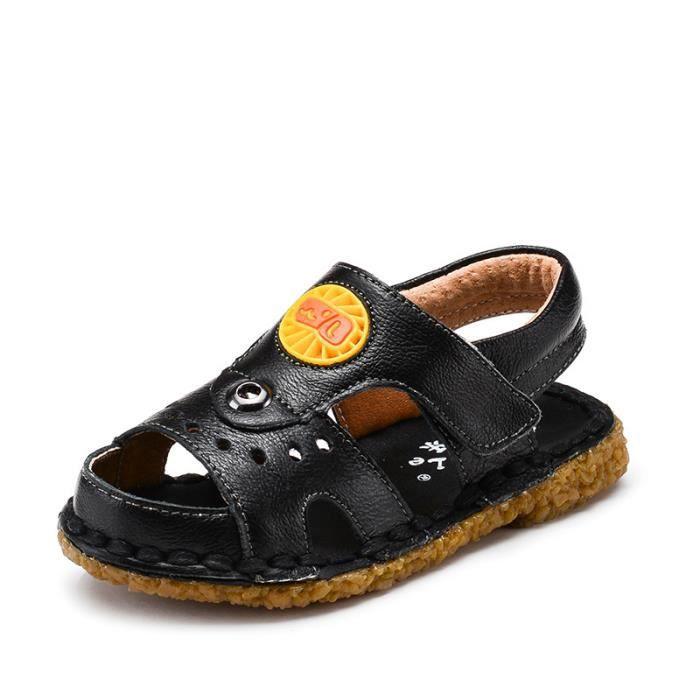 88f291d1670a7 Husksware® Cuir véritable D été enfants sandal... Noir - Achat ...