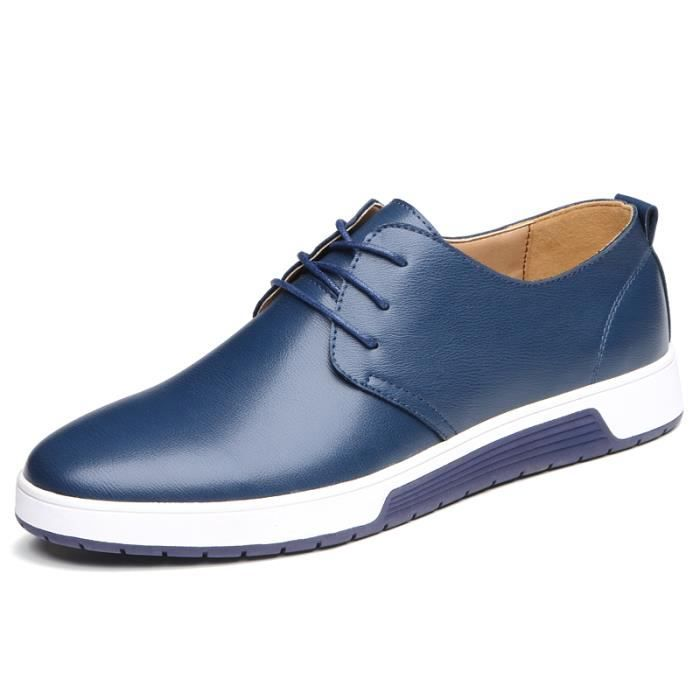 IZTPSERG Chaussure Mocassin pour Homme Bleu