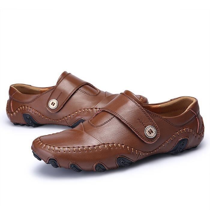 chaussure homme en cuir plates De Marque De Luxe 2017 ete Moccasin hommes Grande Taille Confortable chaussures Super cuir Mode 46 sWHG3l37z