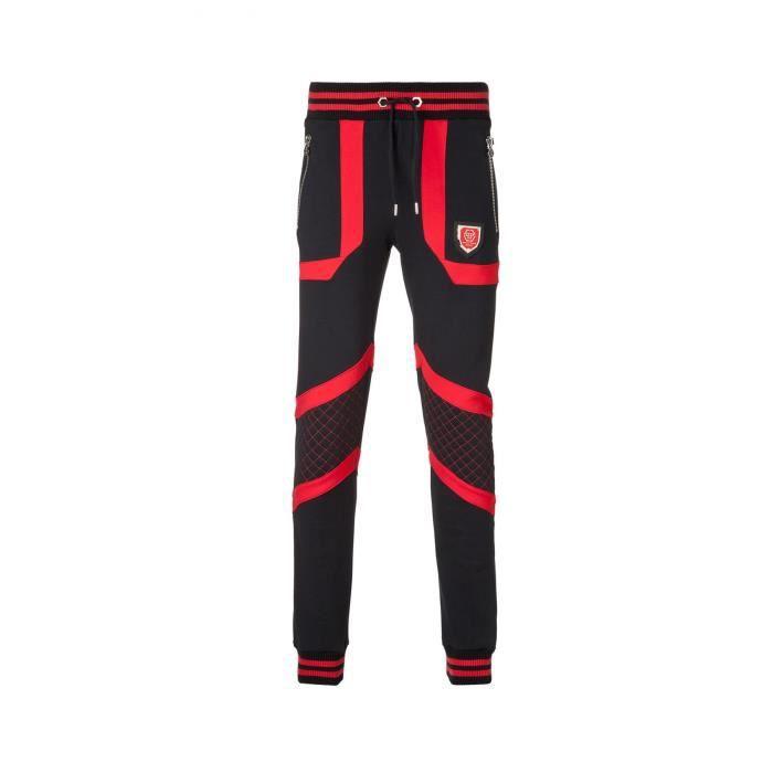 Pantalon Sportswear Bicolore So Two - Philipp Plein 02r4 black red ... bb524e83010
