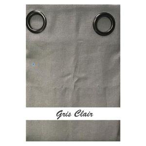 rideau gris en lin achat vente rideau gris en lin pas cher soldes d s le 10 janvier cdiscount. Black Bedroom Furniture Sets. Home Design Ideas