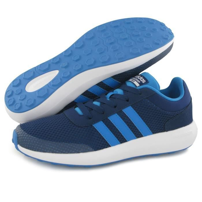Adidas Neo Cloudfoam Race bleu, baskets mode mixte