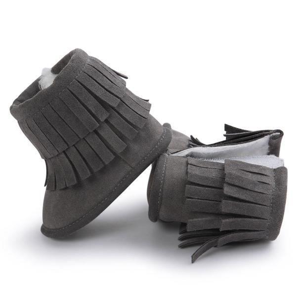 Garde-boue à double pont Garder chaud soft neige bottes Soft berceau chaussures tout-petits Botts gris