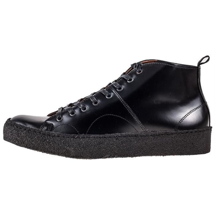 Fred Perry X George Cox Creeper Mid Mixte Baskets Noir - 6 UK pJ2le