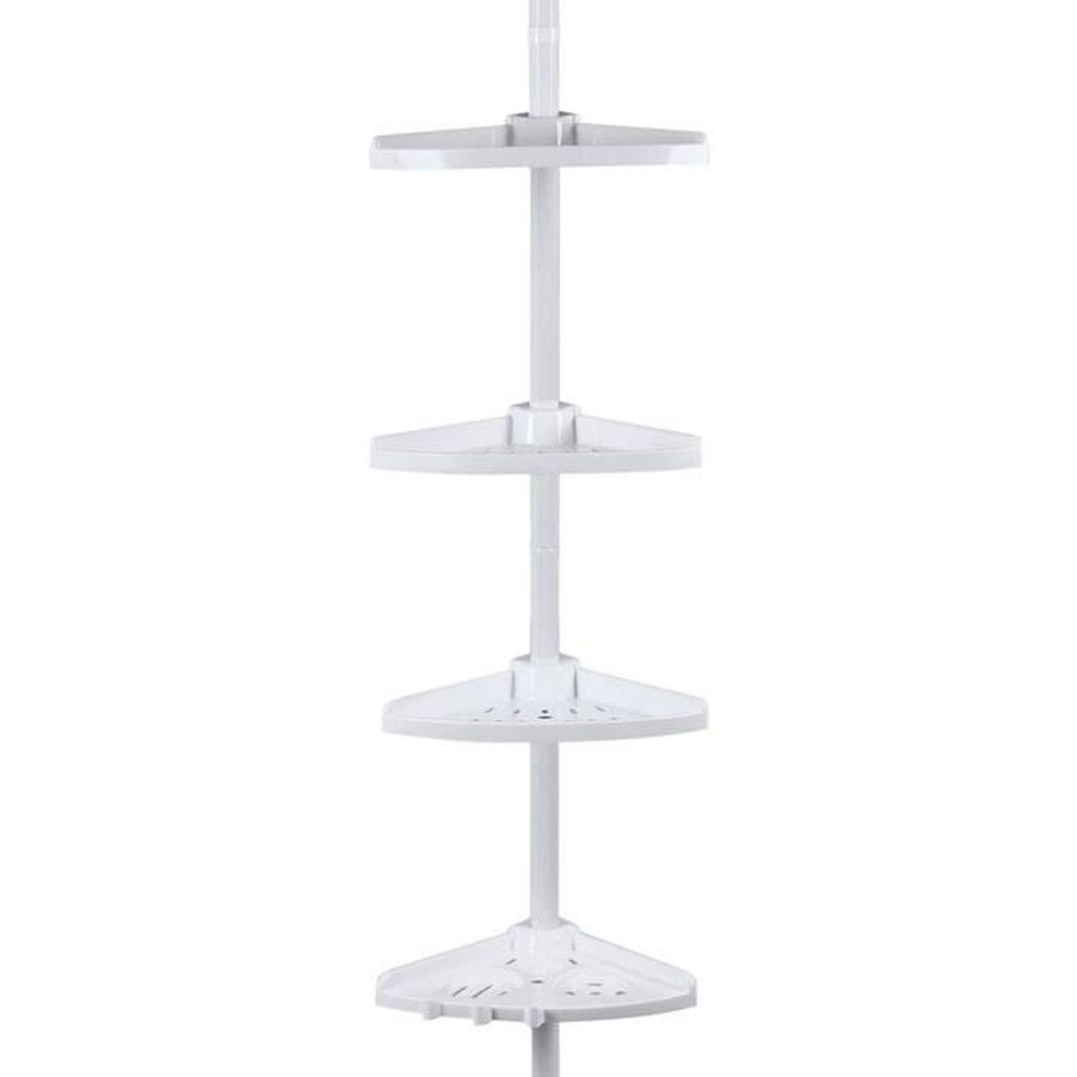 Bcb001 tag re d 39 angle t lescopique pour douche 85 achat vente porte accessoire bcb001 - Etagere d angle douche ...