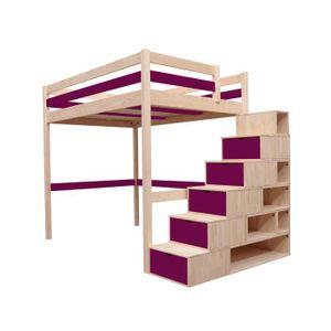 lit mezzanine 2 places achat vente lit mezzanine 2 places pas cher cdiscount page 9. Black Bedroom Furniture Sets. Home Design Ideas