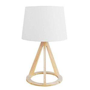 LAMPE A POSER - e trépied Moderne en Bois Vieilli et Chro