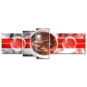 TABLEAU - TOILE Tableau Déco Design Abstrait univers - 160x60 cm