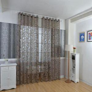STORE DE FENÊTRE 100 x 250 cm Rideaux Fleur Imprimé Tulle Fenêtre A