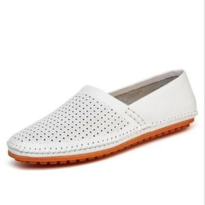 homme chaussure Respirant 2017 Luxe ete Cuir véritable Moccasin Poids Léger Antidérapant Grande Taille 38-44 1PFcmp
