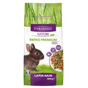 EXTRUDÉ - EN GRANULÉ Paradisio Nature - Repas Premium pour Lapin Nain A